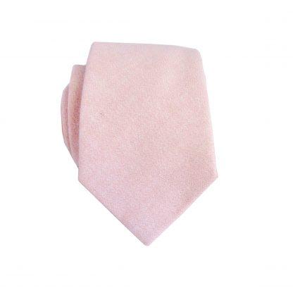 "49"" Boy's Pink Solid Cotton Tie 4763-0"