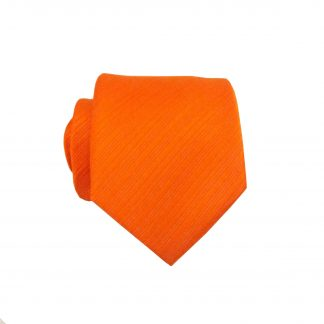 "49"" Boy's Self Tie Orange Solid Tone on Tone Tie 4880-0"