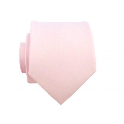 "49"" Boy's Self Tie Pink Solid Tie 1586-0"