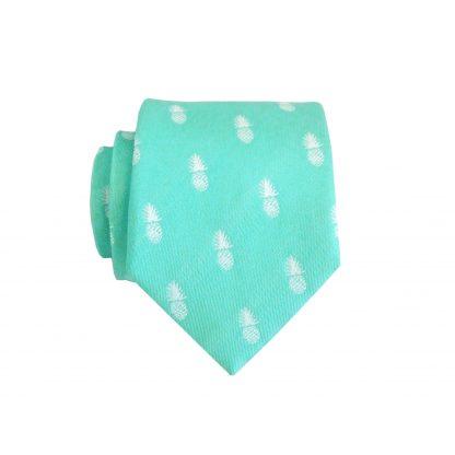 """49"""" Boy's Tiffany Blue Pineapple Tie 8368-0"""