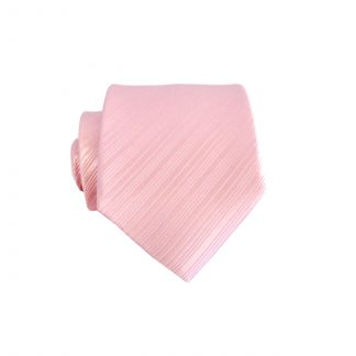 "49"" Boys Salmon Solid Tone on Tone Stripe Tie 7055-0"