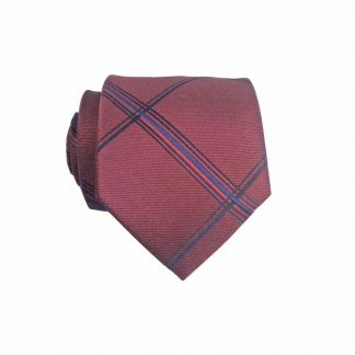 "49"" Boys Self Tie Burgundy, Navy Criss Cross Tie 10680-0"