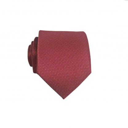 "49"" Boys Self Tie Burgundy Solid Tone on Tone Tie 1674-0"