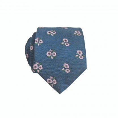 "49"" Boys Self Tie Navy, Pink Floral Tie 10674-0"
