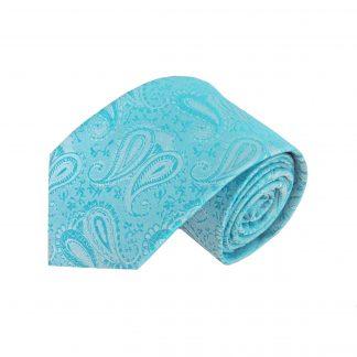 """63"""" XL Turquoise Paisley Men's Tie 7599-0"""