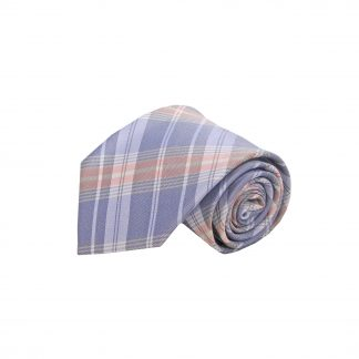 Lavender, Pink Plaid Men's Tie 10170-0