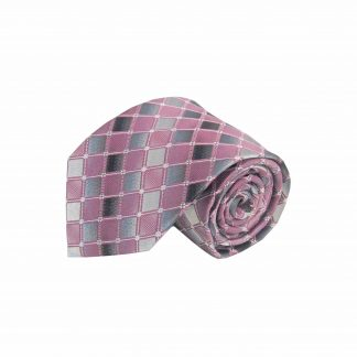 Pink, Gray Squares Men's Tie 4391-0
