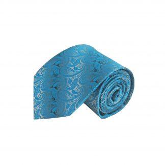 Turquoise, Gray Paisley Men's Tie 10820-0