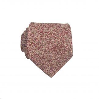 "49"" Boys Self Tie Rust, Khaki Floral Tie 6758-0"