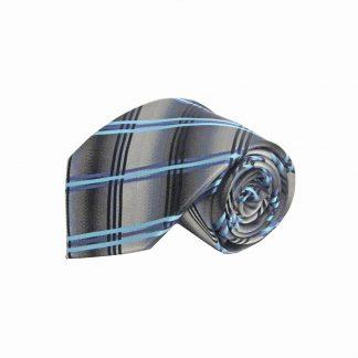 Gray, Silver, Aqua, Purple Criss Cross Men's Tie 6845-0