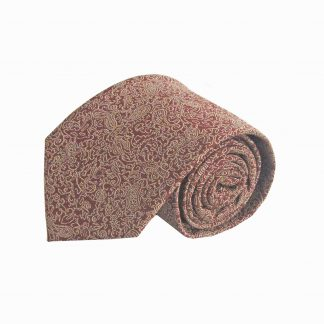 Rust, Khaki Floral Men's Tie 10596-0