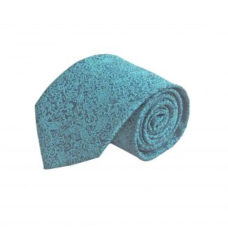Teal, Navy Floral Men's Tie 4595-0
