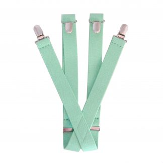 "Mint Solid 1 X 30"" Kids Suspenders 3418-0"