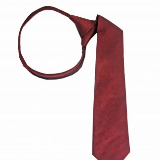 "14"" Boy's Zipper Burgundy Tone on Tone Tie 4873-0"