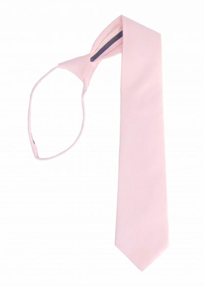 "21"" Light Pink Solid Zipper Men's Tie 11420-0"