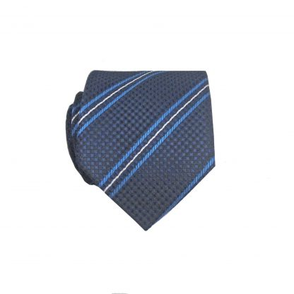 "49"" Boy's Self Tie Navy, Blue Stripe Tie 10111-0"