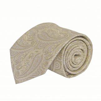 "63"" XL Cream, Taupe Paisley Men's Tie 3049-0"