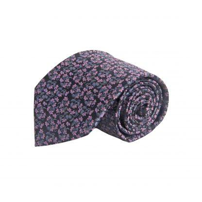 Black , Pink Floral Men's Tie 10569-0
