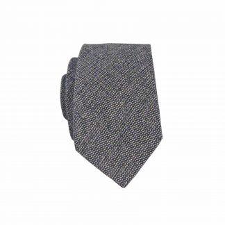 Black, Gray Text Cotton Men's Tie 10440-0