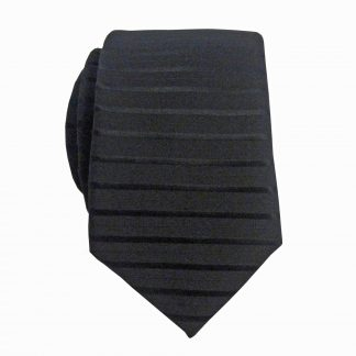 Black Tone on Tone Stripe Skinny Men's Tie 3925-0