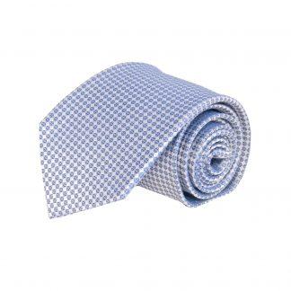 Blue, Gray Small Square Silk Men's Tie 6816-0