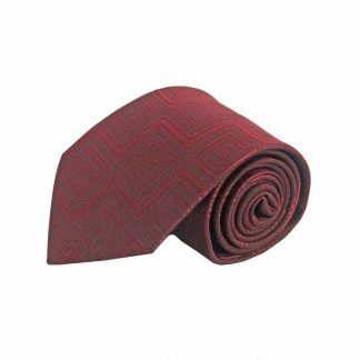 Burgundy Tone on Tone Geometric Men's Tie 4536-0