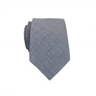 Charcoal Solid Skinny Men's Tie 7552-0