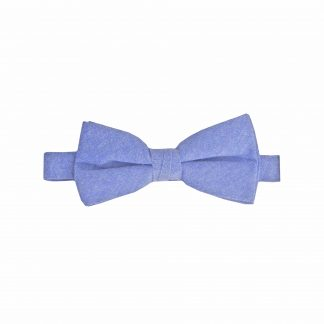 French Blue Solid Banded Bow Tie 1964-0