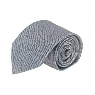 Gray, Black Squiggly Line Men's Tie 10544-0