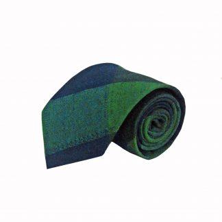 Green, Navy Plaid Men's Tie 8126-0