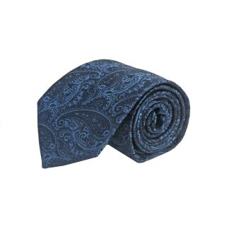 Navy, Blue Paisley Men's Tie 11055-0