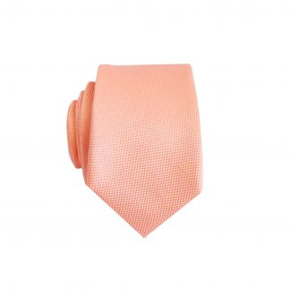 Peach Solid Tone on Tone Skinny Men's Tie 11475-0