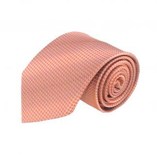 Peach Tone on Tone Small Pattern Men's Tie 7542-0