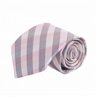 Pink, Gray Small Criss Cross Men's Tie 7535-0