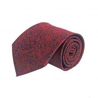 Red, Black Floral Men's Tie 6762-0