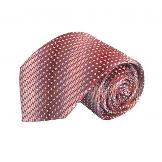 Red, Gray Dot Faded Stripe Men's Tie 9100-0