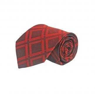 Red Large Blocks Men's Tie 9301-0