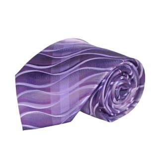 Purple, Gray Squiggly Pattern Men's Tie 10285-0