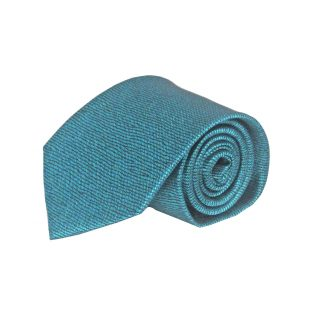 Teal, Black Squiggly Line Men's Tie 7760-0