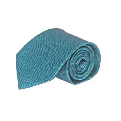 Teal, Black Squiggly Line Men's Tie 7760-0