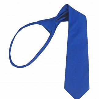 """14"""" Boy's Royal Solid Zipper Tie 3721-0"""