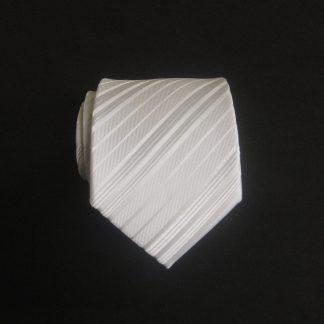 """49"""" Boys Self Tie White Tone on Tone Stripe Tie 11018-0"""