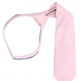 "14"" Boy's Pink Solid Zipper Tie 10807-0"