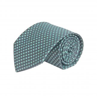 Gray, Mint Dots Men's Ties 10155-0
