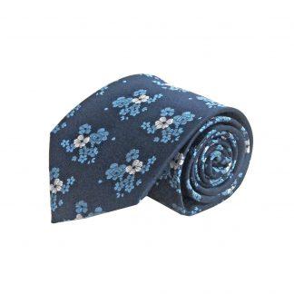 Navy, Blue Floral Men's Tie 10576-0