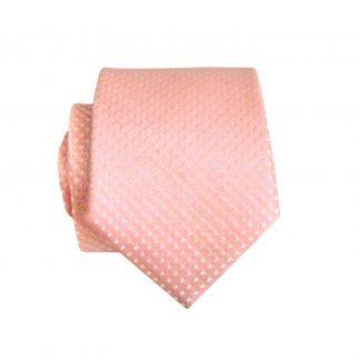 Pink Tone on Tone Skinny Men's Tie w/Pocket Square 6107-0