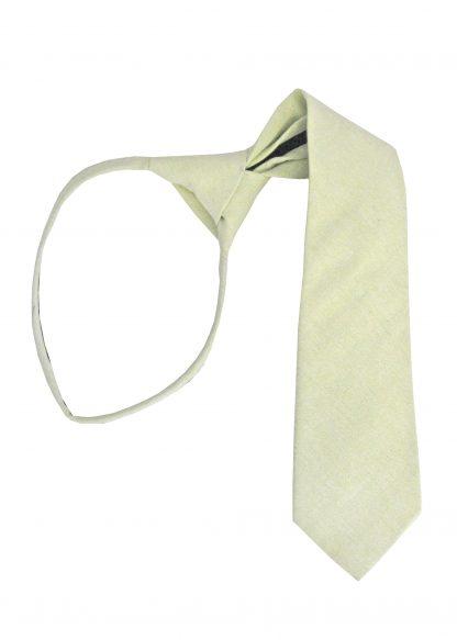 "17"" Boy's Mint Solid Zipper Tie 1490-0"