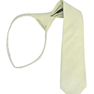 "14"" Boy's Mint Solid Zipper Tie 9061-0"