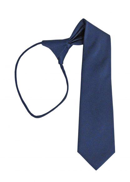 """11"""" Boy's Navy Solid Zipper Tie 3752-0"""