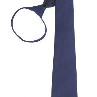 """21"""" Navy Solid Men's Zipper Tie 5225-0"""